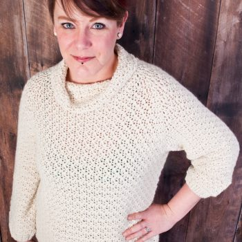 Jacqueline, pullover, crochet