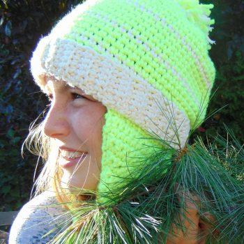 Key Lime, tuque/hat, crochet