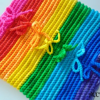 Rainbow col/cowl, crochet