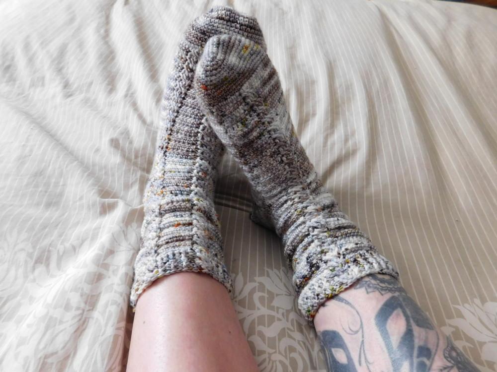 Almost the same socks, crochet