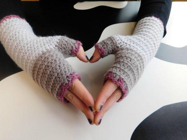 Atelier, mitaines sans doigts/fingerless gloves, crochet