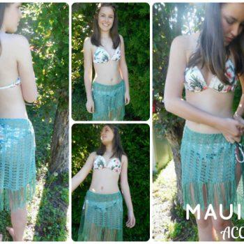 Maui swimsuit cover /cache maillot, crochet